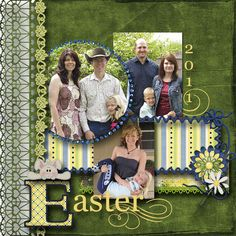 easter layouts on pinrest | ... layout by scrap happy repinned from sb spring easter 2 page layouts