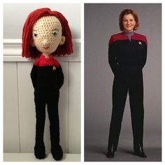 Captain Janeway from Star Trek Voyager by Ariel Haug (www.facebook.com/Noonchi.Crafts), via Flickr #amigurumi