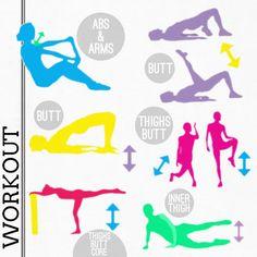 workout abs, butt, thighs.