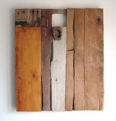 Tableau de planches recyclées