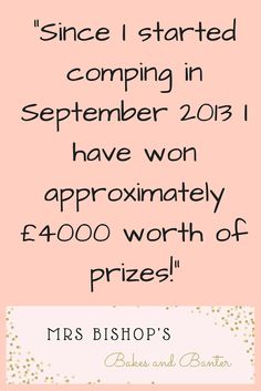 Mrs Bishop's Bakes and Banter: How to Win Competitions & Giveaways: My Comping Hobby