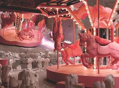 the dreamy, surreal installations of avant-garde south korean brand gentle monster Stage Design, Event Design, Carrousel, New Interior Design, Circus Theme, Commercial Design, Visual Merchandising, Installation Art, Design Projects