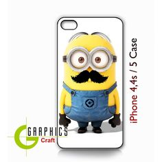 Dispicable Me minion funny with Cute Mustache by GraphicsCraft ($14) ❤ liked on Polyvore