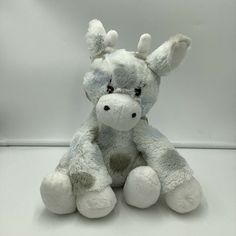 "Little Giraffe White Gray Blue Polka Dot Giraffe Plush Soft Toy Stuffed 2011 11"" #LittleGiraffe"