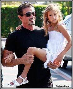 Sly Stallone and Rose