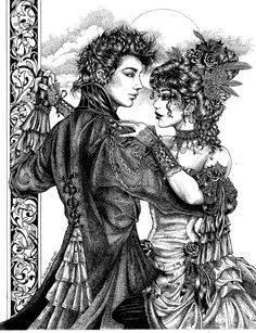 Dark Dance by LKBurke29.deviantart.com on @DeviantArt Coloring Pages To Print, Colouring Pages, Adult Coloring Pages, Coloring Books, Halloween Skull, Halloween Horror, Cinderella Coloring Pages, Steampunk, Goth