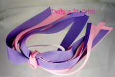Pink and Lilac Purple Ponytail Streamer, Hair Bow Streamer, Ponytail Holder, Ribbon,  toddlers uniforms, teams and more