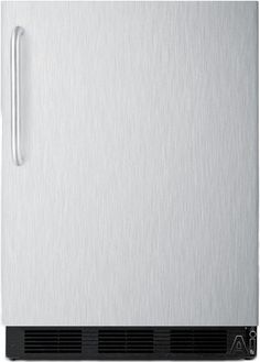 "Summit FF6BXADA 24"" Freestanding Compact All-Refrigerator with 5.5 cu. ft. Capacity, Adjustable Glass Shelves, Door Storage, User-Reversible Door and ADA Compliant"