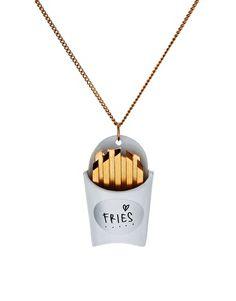 fries necklace via @Joanna Szewczyk Gierak Szewczyk Gierak Hawley for @Jò in Wonderland Cho / Oh Joy!