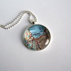 Custom Map Necklace by inkspiredcollection on Etsy, $15.50