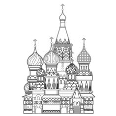 Saint Basil Cathedral , Moscow, Vector - Download From Over 61 Million High Quality Stock Photos, Images, Vectors. Sign up for FREE today. Image: 43930497