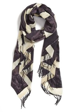 Nordstrom 'Space Plaid' Cashmere & Wool Scarf available at #Nordstrom