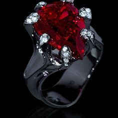 Mousson Atelier Cosmos Collection Rubellite Tourmaline and Diamond Ring R0040-0/1