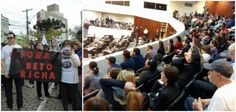 alep_forabetoricha   Avante educadores de Curitiba!  leia mais: ESPECIAL - JULGAMENTO 29 DE ABRIL DE 2015 (08/05/15) https://www.youtube.com/watch?v=cMa_tzGPMaQ  Curitiba foi palco - 29 DE ABRIL DE 2015 - de uma série de protestos de professores e membros da sociedade civil, manifestações que ficaram marcadas pela falta de diálogo, violência e pelas ações abusivas da polícia militar.   Com o intuito de debater sobre o ocorrido, a Faculdade de Direito da UFPR realizou um julgamento simbólico…