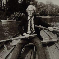 Andy Warhol paddling away
