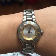 Cartier Women's Watch Women's Must De Cartier 21 Two-Tone Gold & Stainless Steel. Swiss-Made Quartz. I've owned this watch for nine years and got a new one and am ready to let this one go. Cartier Other