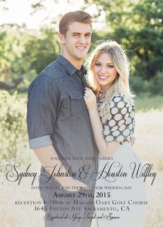 Sydney and Houston Simple Wedding Invitations, Lovey Dovey, Wedding Announcements, Fulton, Big Day, Utah, Sydney, Wedding Day, Pi Day Wedding
