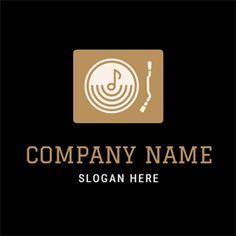 Golden Note and White CD logo design