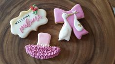 Baby cookies #stork #tutu