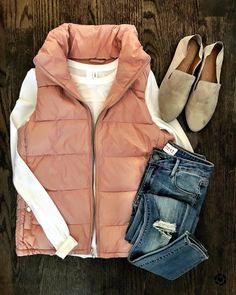 """6,153 Likes, 39 Comments - Jenn (@mrscasual) on Instagram: """"This perfect little pink vest is only $16!!!!  It's definitely the type of vest I will be living…"""""""