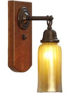 Thorson White Oak and Brass Sconce In Bronze Finish | House of Antique Hardware