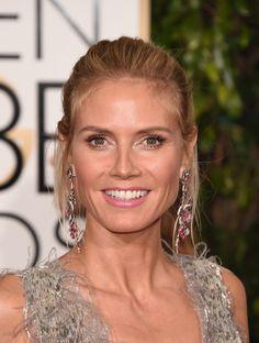 Pin for Later: Jetez un Oeil à Tous les Superbes Looks Beauté des Golden Globes Heidi Klum