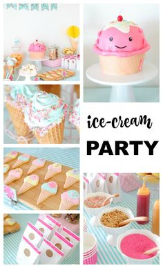 ice-cream themed birthday party. Adorable! http://cake.style/2016/03/28/i-scream-for-ice-cream/