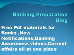 BEST PDF MATERIALS,NEW JOB NOTIFICATIONS ,CURRENT AFFAIRS,STATIC GK MATERIALS VIDEOS WITH SMART TRICKS,BANKING AWARENESS VIDEOS IN TELUGU AND MANY MORE AT ONE PLACE ITS A LIBRARY TO ALL BANK ASPRIANTS