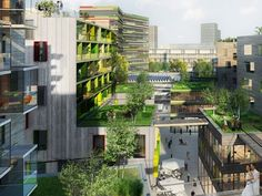 A Sustainable City Bloc Project in Helsinki - I like this - no idea if it exists. But the green is nice. It does remind me of a scene from Battlestar Gallactica when they were back on Caprica.