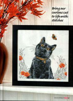 CAT &^ BUTTERFLY  FREE PATTERN   Gallery.ru / Фото #37 - Cross Stitch Crazy 159 январь 2011 - tymannost