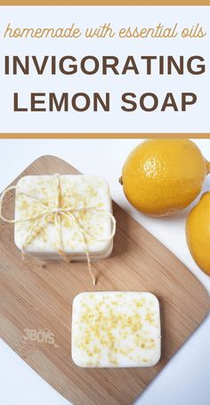 This Invigorating Lemon Zest Soap recipe is easy to make. Better than that, the soap will leave you energized and exfoliated! Essential Oils For Laundry, Essential Oils Soap, Handmade Soap Recipes, Soap Making Recipes, Lemon Soap, Honey Soap, Zest Soap, Peeling, Lotion Bars
