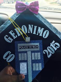 My Doctor Who Graduation cap #doctorwho #graduation #graduationcap #doctorwhograduationcap #nerdystuff