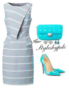 """""""Turquoise Fever..."""" by stylesbypdc ❤ liked on Polyvore featuring Christian Dior, Christian Louboutin, Ross-Simons and David Yurman"""