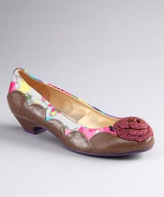 Take a look at this Chestnut Cherry Blossom Shoe by Poetic Licence on #zulily today!