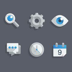 "Create a Set of ""Almost Flat"" Modern Icons in Adobe Illustrator+(via+<a+href=""http://vector.tutsplus.com/tutorials/designing/create-a-set-of-almost-flat-modern-icons-in-adobe-illustrator/"">vector.tutsplus.com)"