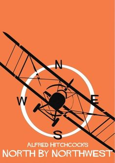 North by Northwest (1959) ~ Minimal Movie Poster by Adam Armstrong ~ Hitchcock…