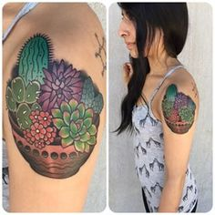 And what could better express your love for your succulent babies? | 21 Beautiful Plant Tattoos For Anyone Who Doesn't Like Flowers