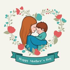 Drawing with mothers day theme Free Vect. Happy Mothers Day Banner, Mothers Day Special, Happy Mother S Day, Mothers Day Cards, Mothers Day Cartoon, Mothers Day Drawings, Mothers Day Pictures, Mom Drawing, Mother's Day Theme