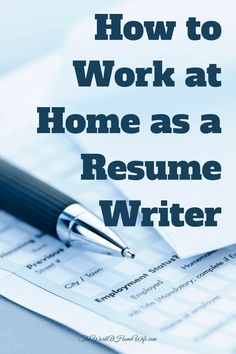 Resume Writing Jobs Writing Professional Resume Is One Of The Most Important Steps In .