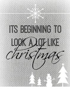 Black and White Christmas Printable - Free