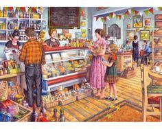 Puzzle Gibsons La Tienda de Comestibles de 1000 Piezas