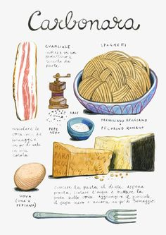 20 Trendy Ideas For Pasta Italianas Desenho Recipe Drawing, Food Sketch, Food Journal, Recipe Journal, Food Drawing, How To Cook Quinoa, Kitchen Art, Kitchen Prints, Food Illustrations
