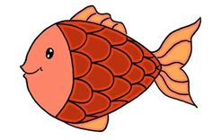 Dessiner un poisson: étape 5: coloriage en rouge Tigger, Disney Characters, Fictional Characters, Art, Color Pencil Picture, Pencil Drawings, Pretty Fish, Children, Red