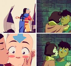 Legend of Korra/ Avatar the Last Airbender: cheek kisses <3