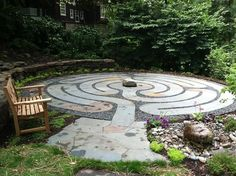 Healing Labyrinth Garden | Garden Design - I absolutely want one of these.