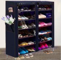 Shoe Rack Shelf Storage Closet Organizer Cabinet Portable 6 Layer 12 Grid - marketplacefinds  - 2