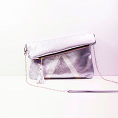 Holographic Leather Purse // Metallic Pink Blue by gmaloudesigns