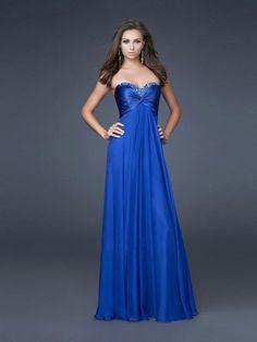 Sheath/Column+Sweetheart+Chiffon+Royal+Blue+Long+Prom+Dresses/Evening+Dress+With+Beading+#USALF069