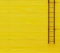 Yellow Wall and Ladder by Gleb Potapenko - Gelb Yellow Brick Road, Yellow Walls, Mellow Yellow, Black N Yellow, Photo Backgrounds, Background Images, Aesthetic Colors, Aesthetic Yellow, Minimalist Photography