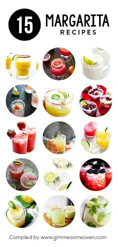 15 Margarita Recipes | gimmesomeoven.com